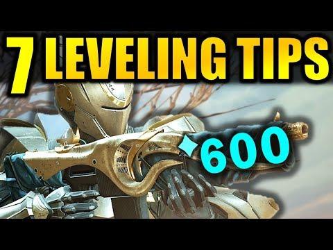 Destiny 2: 7 BIG LEVELING TIPS! - Get to 600 Power Fast! | Forsaken