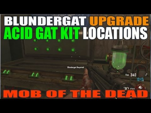 All Acid Gat Kit Buildable Locations: Mob Of The Dead