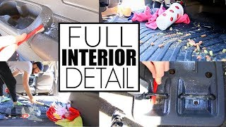 Full Car Interior Cleaning || Car Cleaning My Disgusting Minivan || Car Detailing
