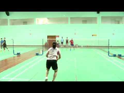 Practice match of Saina Nehwal and PV Sindhu