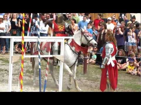 The Jousting Match at the Renaissance Festival in South Florida.