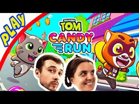 БолтушкА и ПРоХоДиМеЦ Бегут в МИРЕ СЛАДОСТЕЙ! #163 Игра для Детей - Говорящий Том БЕГ за конфетами