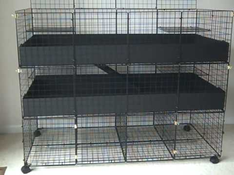 Very sturdy c c guinea pig cage 3 level deluxe large for Making a c c cage