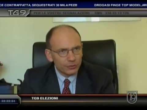 Il presidente del Consiglio, Enrico Letta, al Tg9 su T9, intervistato da Andrea Picardi