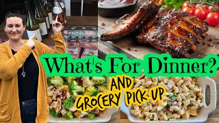 What We ate for Dinner this Week / Large Grocery Pick Up Order
