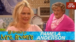 Pamela Anderson In Mrs Brown 39 S Kitchen All Round To Mrs Brown 39 S Episode 1 Bbc One