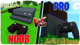 MINECRAFT BATALLA DE CONSTRUCCIÓN: PLAYSTATION 4 NOOB VS PLAYSTATION 4 PRO!