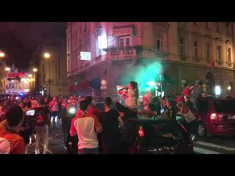 Croatia fans celebrate World Cup semi-final win over England, Zagreb, 11.07.2018., Part 2. thumbnail
