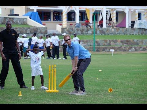 Prince Harry joins a Youth Sports Festival in Antigua & Barbuda