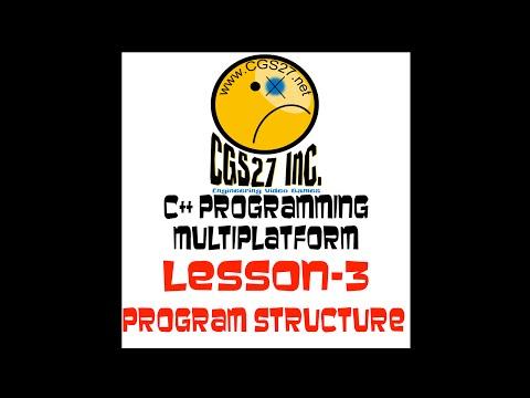 C++ Multi-platform Development - The structure of a C++ program Video 2