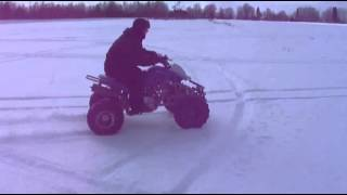 ATV Quad 250cc winter cross in deep snow 2013 part 2.