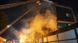 Üniversitesitede Korkutan Yangın