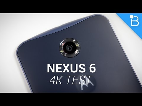 Google Nexus 6 4K Video Test!
