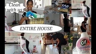 ENTIRE HOUSE CLEANING ROUTINE | SPEED CLEAN WITH ME| MOTIVATIONAL