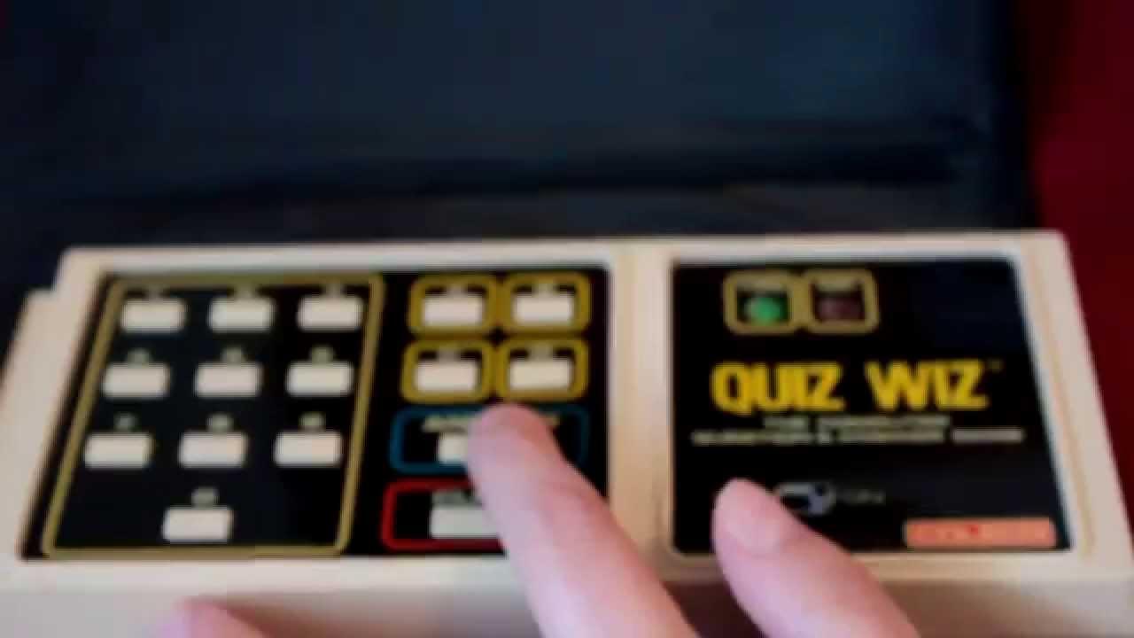 1980 Coleco Quiz Wiz Retro