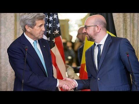 John Kerry Belçika'da taziye ziyaretinde
