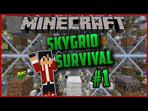 Minecraft - Skygrid Survival #1 [Veel Blokken!]