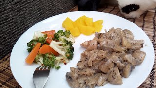 Creamy mushroom // thani nadan cooking malayalam