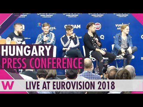 "Hungary Press Conference: AWS ""Viszlát nyár"" @ Eurovision 2018 | wiwibloggs"