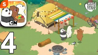 WE BARE BEARS MATCH 3 REPAIRS - Camp - Gameplay Walkthrough Part 4 (iOS Android)