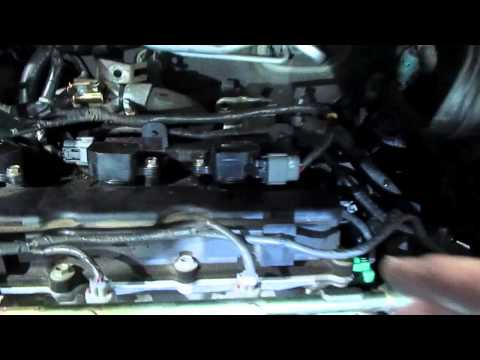 How to replace install spark plugs and coils on a 2002 Nissan Altima 3.5 3.5L