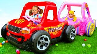 Max and Katy sale toy cars