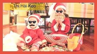 """Trò Chơi """" Thi Hái Kẹo"""" Từ Ngôi Nhà Bánh Kẹo Sau Giáng Sinh - Bé Peanut Bé Mango Chị Bí Đỏ"""