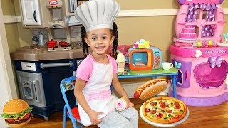 Pretend Play Food Toys Cooking Toy Microwave Kitchen Playset Imani's Fun World