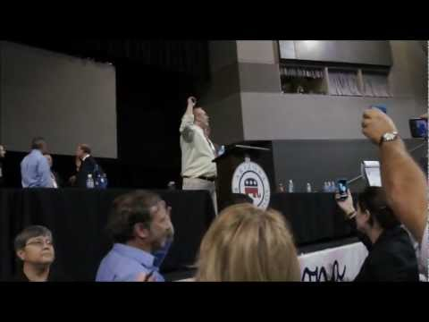 Ron Paul Revolutionaries chaotic Takeover attempt of Arizona GOP Convention