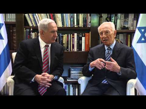 President Shimon Peres and Prime Minister Netanyahu's Meeting - Operation Pillar of Defense