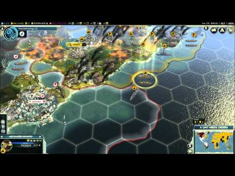 Civilization V - Episode 9, part 7 - Russia vs Japan & Mongolia