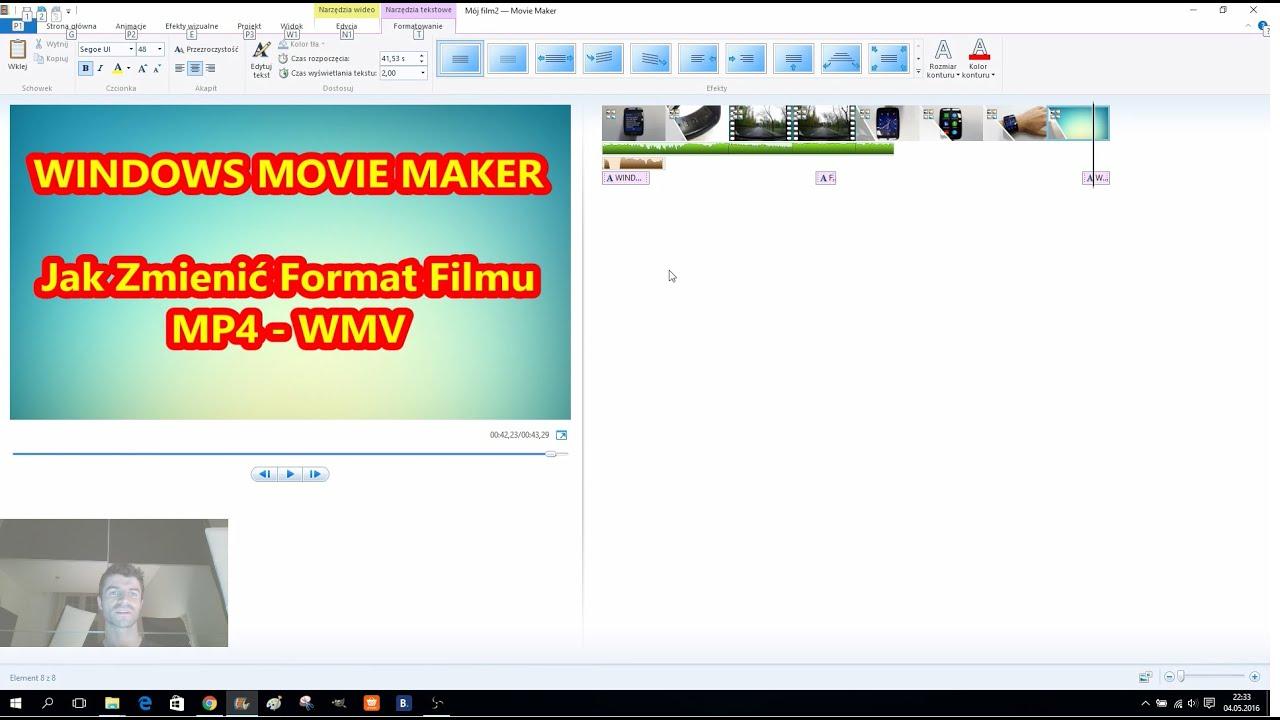 Movie maker avi format