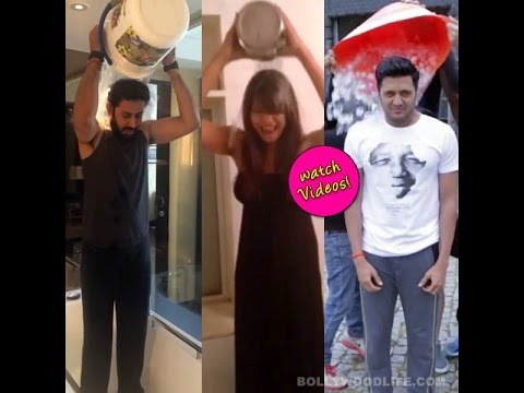 Als Ice Bucket Challenge: Riteish, Bipasha, Sania Mirza Dump Ice Water Over Their Heads!-review video