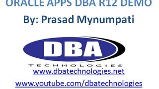 ORACLE Apps DBA R12 Demo