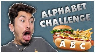 Letting The Alphabet Decide What i Eat For 24 Hours... (IMPOSSIBLE FOOD CHALLENGE)