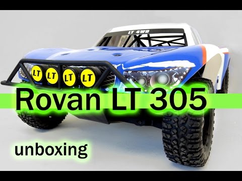 Rovan LT 305 (Losi 5ive T clone) unboxing. 1/5 scale Short Course Truck.