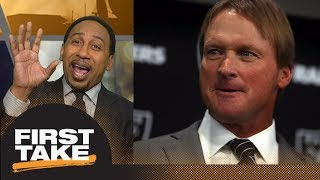 Stephen A. Smith: Jon Gruden needs Super Bowl win in 3 years to be worth money | First Take | ESPN