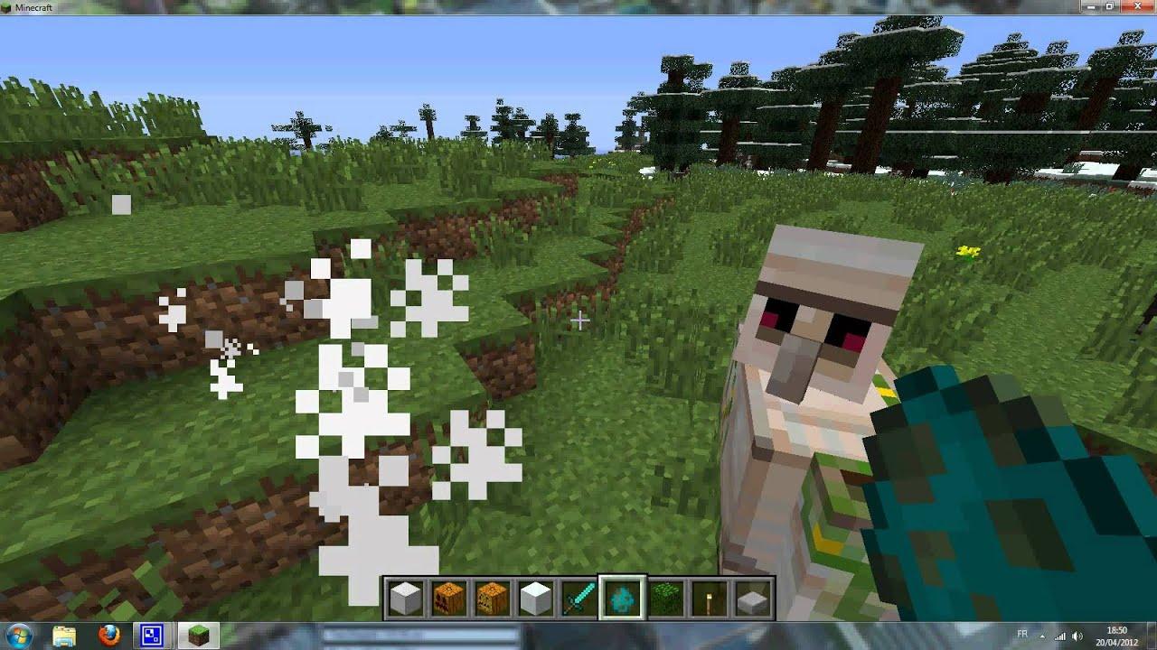 Fabrication de golems de fer et de neige sur minecraft 1 2 - Minecraft golem de fer ...