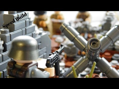 Lego WWII Speed Build: Hold the Line