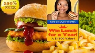 Get Burger King Lunches for a Year