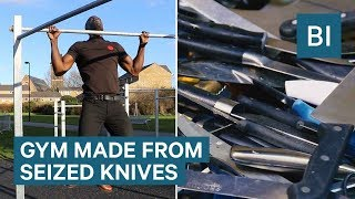 This Gym Is Made From 2 Tonnes Of Seized Knives - And It