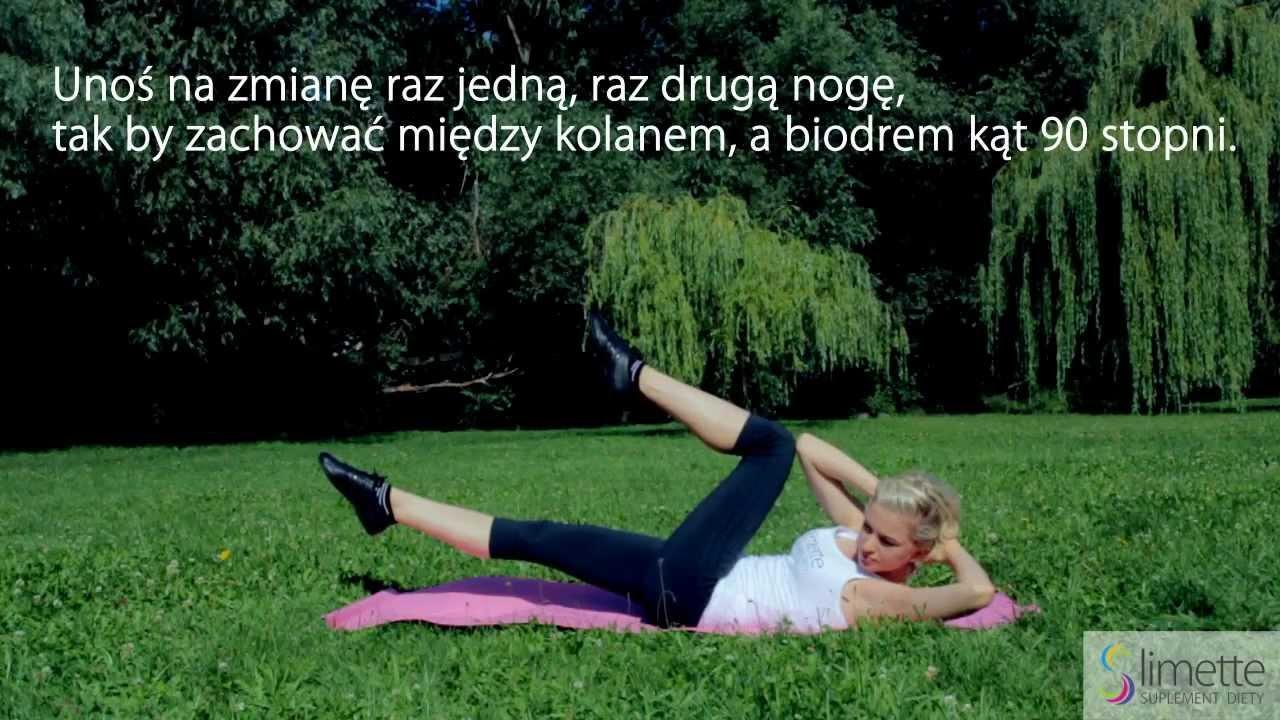 Ćwiczenia na Płaski Brzuch Nożyce Slimette Ćwiczenia na Płaski