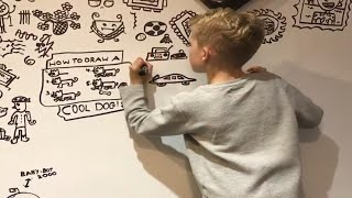 10-Year-Old Artist Hired to Doodle on Restaurant's Wall