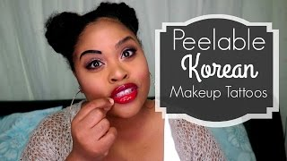 PEEL OFF Makeup Tattoo: Korean Lip and Eyebrow tint | First Impression