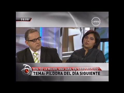 Ministra de la Mujer en desacuerdo con el uso de la píldora del día siguiente