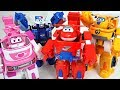 Go Super Wings robot suit Jett, Dizzy, Donnie, Paul appeared!! - DuDuPopTOY