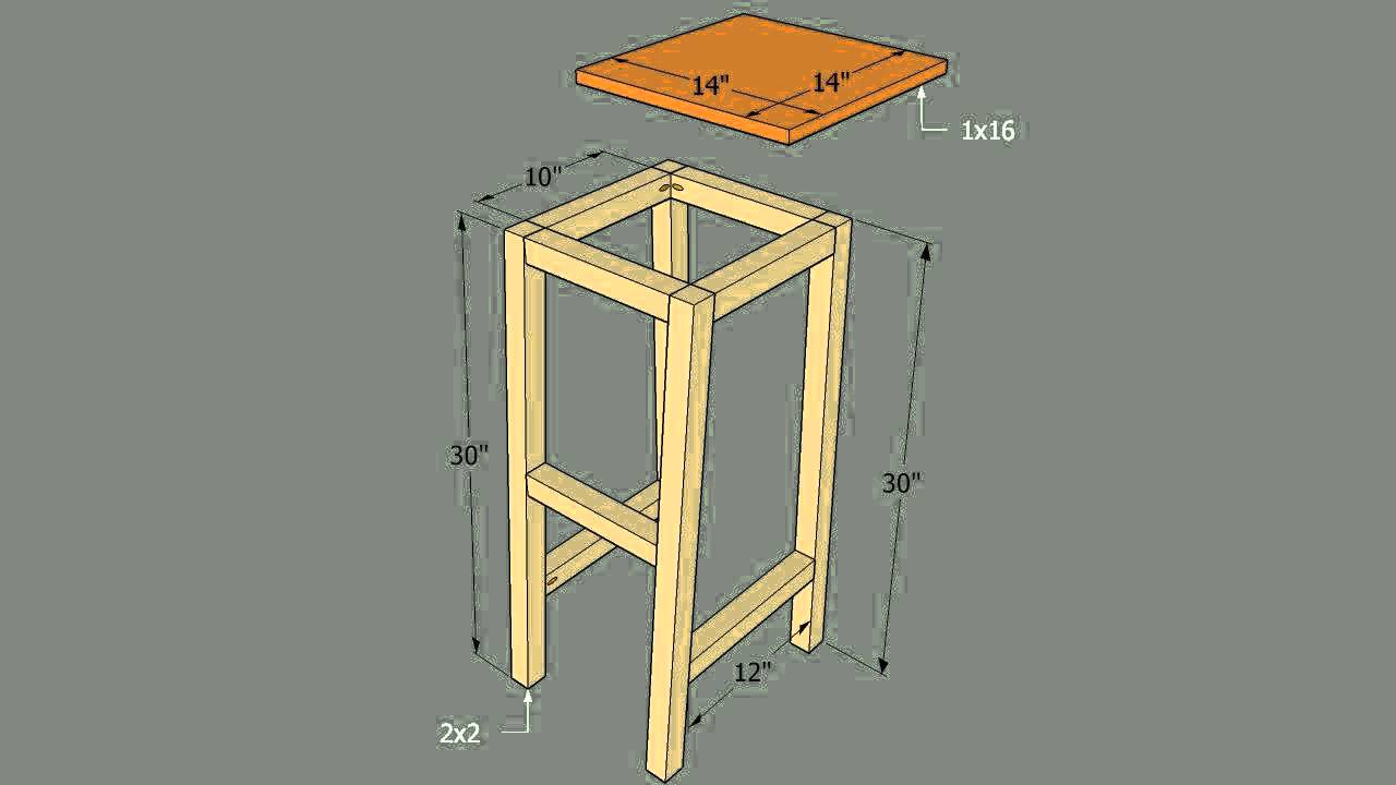 How To Build A Bar Stool With A Round Seat Youtube