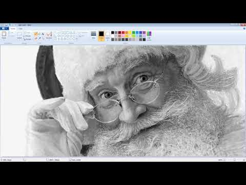 Vintage Microsoft Paint Art - Santa Claus Speed Painting