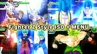 NEW DBZ TTT MOD ISO + MENU With Fighter Z Style Graphics And Dbs Gogeta Blue DOWNLOAD