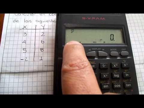 Calcular Coeficiente de Correlación de Pearson con calculadora CASIO  FX-82TL